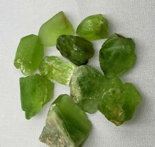 Peridot rough lot 122.75 carats 10 pcs