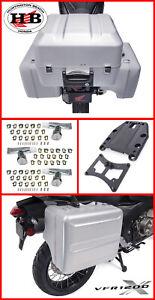 HONDA OEM VFR1200X KIT - TOP CASE / MOUNT / L & R PANNIER CASE & 3 KEY CYLINDERS