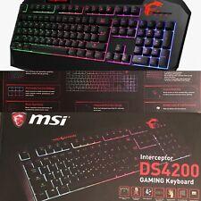 (Bulk Sale 12)  MSI DS4200 Gaming Keyboard New In Box