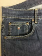 GANT Jeans Jason Normal Waist Regular Fit Straight Leg Blue W34/L30 Excellent