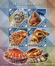 Niger 2015 MNH Shells 4v M/S Seashells Marine Arcinella cornuta