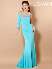 Jovani 5773 Evening Gown ~LOWEST PRICE GUARANTEED~ NEW Authentic NWT Aqua 2