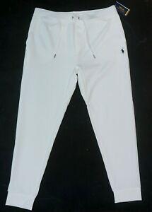 NEW POLO RALPH LAUREN PERFORMANCE WHITE DOUBLE KNIT JOGGERS SWEATPANTS SIZE XL