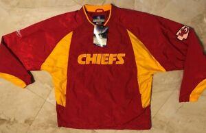 Kansas City Chiefs Pullover Jacket Adult Medium On Field Embroidered Reebok NFL
