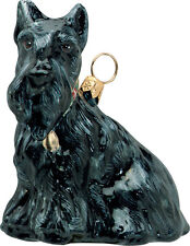 Scottish Terrier sitting glass dog ornament by Joy To The World ZKP2683
