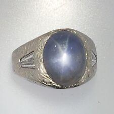 Sapphire+Diamonds Platinum Ring~Certified~$10,500 12.88ct Untreated Ceylon Star