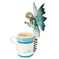 Hot Cocoa Fairy With A Mug 15cm High Cup Amy Brown Faerie Nemesis Now