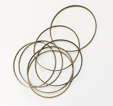 Bulk 100 antique brass round connector rings 30mm, brass linking ring