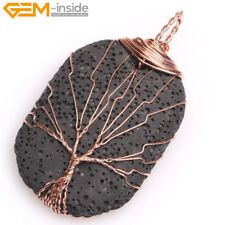 Assorted Lava Rock Stone Gemstone Pendant For Necklace Fashion Jewelry Gift Gem