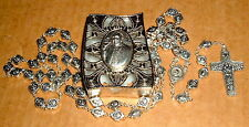 Metal POPE FRANCIS Rosary 23 in NEW Catholic Papal CASE ITALY Vatican