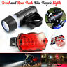 Waterproof 5 LED Mountain Bike Bicycle Cycling Front Rear Lights Super Bright