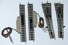 4 Fleischmann Profigleis Spur N: je 2x 9139 man Weiche; 9112 elektr Entkuppler