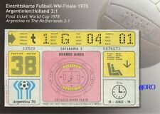 Fußball Weltmeisterschaft 1978 + WM Final Ticket + Orig. Repro Postkarten Serie