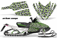 Snowmobile Graphics Kit Decal Sticker Wrap For Arctic Cat M Series URBANCAMO GRN