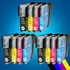 3 Full Set LC980 LC1100 Ink Cartridge for Brother DCP 395CN 585CW 6690CW 197C 2