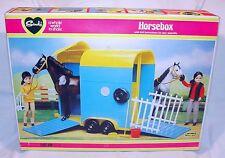 "Pedigree England SINDY HORSEBOX HORSE CAR TRAILER 12"" Doll GIFT SET MIB`70 RARE!"