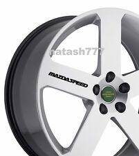 4 - MAZDASPEED Decal  Sticker wheels rims Racing MAZDA sport  emblem logo BLACK