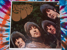 BEATLES Rubber Soul CAPITOL RECORDS green label PROMO PUNCH HOLE signed MINT