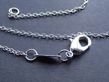 UK Jewellery Buy 2 Get 3 Free 24 inch Silver Link Trace Necklace Pendant Chain