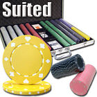 New 1000 Suited 11.5g Clay Poker Chips Set with Aluminum Case - Pick Chips!