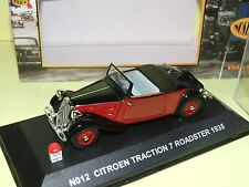 CITROEN TRACTION 7 ROADSTER 1935 Noir & Bordeaux NOSTALGIE 1:43