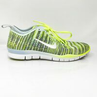 Nike Womens Free 5.0 Tr Fit 4 629832-401 Gray Neon Green Running Shoes Size 8