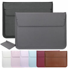 "Leather Laptop Case Carrying Sleeve Cover Notebook For MacBook Pro 15"" 13"" 11"""