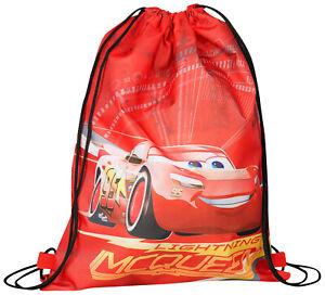 Disney Pixar Cars Lightning McQueen Kids Children PE Trainer Gym Shoe Bag