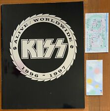Kiss - Alive Worldwide 1996 - 1997 Japan Tour Book w/ 2 Ticket Stubs