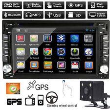 "6.2"" 2 DIN Car GPS Navi Stereo DVD CD Player Bluetooth Radio iPod MP3 TV+ Camera"