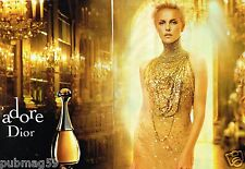 Publicité advertising 2012 (2 pages) Parfum J'Adore Dior avec Charlize Theron