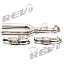 """REV9 3"""" Acero Inoxidable Flexible Tubo Con / Titanio Y Racing Para 09-17 GTR R35"""