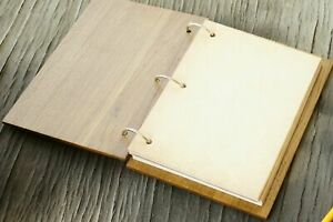 Notebook 60 Sheets Notepad handmade wooden cover, Gift