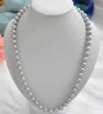 """beautiful 8-9mm Genuine Natural Gray Akoya Freshwater Pearl Necklace 18"""""""