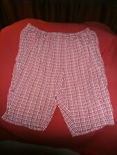 "L@@K Only Necessities Sz 22W ""J8""Pull On Red & White Plaid Summer Style Nice"