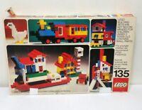 Vintage LEGO Building Set No 135 From 1973 - Incomplete w/ Original Box