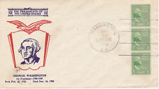 POSTAL HISTORY - FIRST DAY COVER FDC 1939 PRESIDENTIAL SERIES GEORGE WASHINGTON