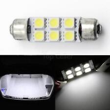 2x White 578 42m 212-2 212-1 LED Bulbs Festoon 6 SMD 5050 Dome Map Cargo Light
