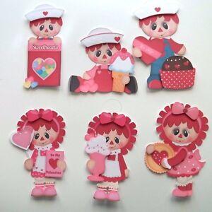 3D-U Pick-CM3 Raggedy Anne Andy Love  Scrapbook Card Embellishment