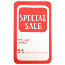 """Set of 1000 New Red/White Special sale Price Tag 1-3/4""""W x 2-7/8""""H"""