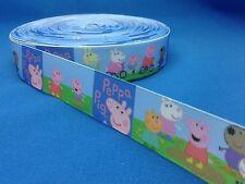 1 metre length of Peppa Pig design Cake/Hair/craft ribbon @ MrsMario's