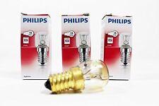 3x GENUINE PHILIPS OVEN BULB MICROWAVE BULB 15W E14 300C SES COOKER LAMP 3xA4119