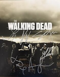 WALKING DEAD 8x10 Signed By 6 CAST..LINCOLN, REEDUS, ROOKER, HOLDEN + 2..COA