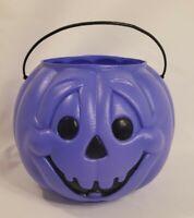 General Foam Plastics PURPLE Jack o Lantern Bucket Halloween Blow Mold Pumpkin