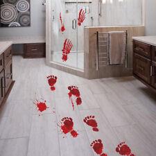 Bloody Footprints Floor Clings Halloween Vampire Zombie Party Decor Stickers