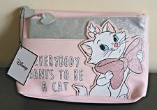 Disney Primark 2in1 Make Up Bag Pink Glitter EVERYBODY WANTS TO BE A CAT