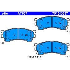 Ate AT637 / D637 PremiumOne Disc Brake Pads Front