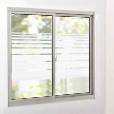 [casa.pro]® Sichtschutzfolie Milchglas Linien - 67,5 cm x 1 m - statisch Fenster