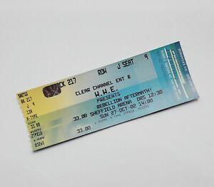RARE WWE Wrestling Memorabilia - Unused Ticket(s) Sheffield Arena 27/10/02