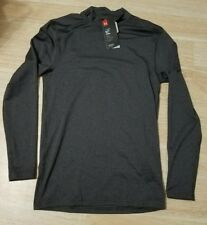 NWT UNDER ARMOUR GRAY COLD GEAR MOCK NECK COMPRESSION BASE LAYER SHIRT LARGE